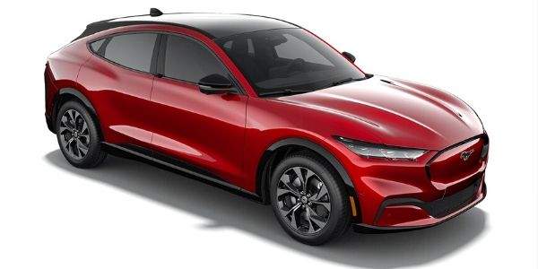 2021 Ford Mustang Mach-E rapid red