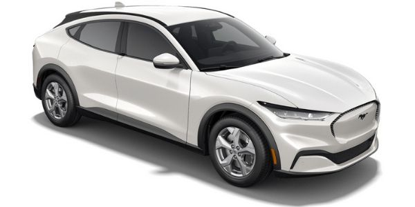 2021 Ford Mustang Mach-E white